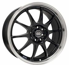 16x7 Enkei J10 5X112/114.3 +38 Black Rims Fits Type R Talon Civic