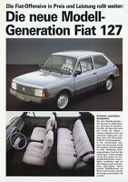 Fiat 127 Special Super Prospekt 1982 Autoprospekt Broschüre brochure prospectus