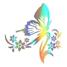Car Stickers Creative Butterfly Flowers Stickers Protective Car S0c5