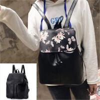 HOT SALE Women Girl Vintage Drawstring Shoulder Backpack School Travel Bag Decor