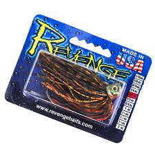 REVENGE Swim Jig Weedless Fishing Lure 3/8oz 5/0 Hook - CHAMELEON/CHARTREUSE