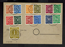 1948 Leipzig East Germany Cover Stamps # 544 to 556 inc 549