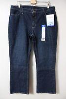 Lee Riders Mid Rise Boot Cut Jeans Denim Sz 18 NWT Medium Wash Stretch Casual