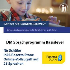 Online-Zugang Rosetta Stone Foundations, Vollzugriff auf 25 Sprachen für Schüler