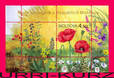 MOLDOVA 2009 Nature Flora Plants Field Meadow Flowers Poppies s-s Mi Bl.46(658)