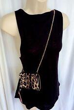 Victoria's Secret Crossbody Wallet Clutch Purse Bag  iPhone Case Leopard Print