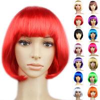 2018 Women Short Bob Hair Wig Straight Cosplay Party Wigs Fancy Dress Full Wigs