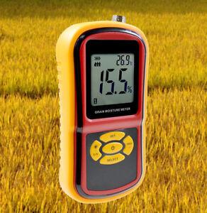 Portable Grain Moisture Meter 5~30% Rice Corn Wheat Tester Humidity Temperature