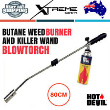 Hot Devil Grass Shrub Garden Kill Burner Kit Butane Gas Blow Torch Weed Killer