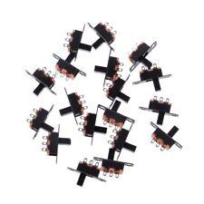 20Pcs DC 50V 0.5A 3 Solder Lug Pin 2 Position SPDT 1P2T Mini Panel Slide Switch