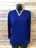 Under Armour Long Sleeve Shirt Size YXL Youth Blue V-neck Girls Top Base Layer