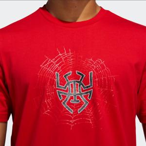 adidas Donovan Mitchell D.O.N. Sense Logo Spider Men Tee Basketball Red GE4111