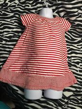 Faded Glory Red White Striped Dress or Bathing Cover 24m  Patriotic Nautical