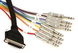 """Hosa DTP-802 8-channel DB25 to 1/4"""" TRS Snake - 6.6'"""