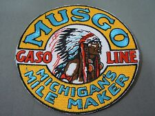 MUSGO Gasoline Embroidered Iron On Uniform-Jacket Patch 4""