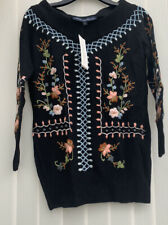 BNWT French Connection Embroidered Bardot Jumper XS Rpp £120
