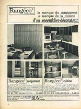 K- Publicité Advertising 1965 Meubles Rangement Rangéco