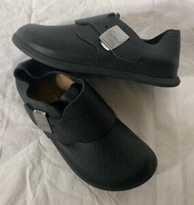 New BETULA Birkenstock Black Silver Buckle Slip On Comfort Shoes L7 M5 ~ Narrow