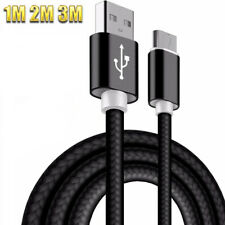 Premium Black Braided Data Cable Charger For Nokia 808 PureView