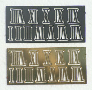 Metal Clock numbers 10mm High Black or Polished Brass