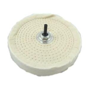 """6"""" 150mm Polishing Mop Buffing Wheel For Drill Bench Grinder 80 Layer Cotton UK"""