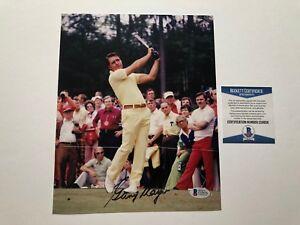 Gary Player Rare! signed autographed golf legend 8x10 photo Beckett BAS coa