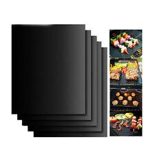 5Pcs BBQ Grill Mats Barbecue Pad Reusable NON-Stick Surface Hot Plate Mat Baking