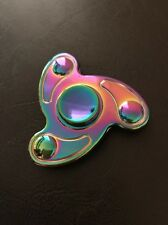 Rainbow Metal Fidget Hand Spinner Long Last Spin ADHD Stress Relief Desk Toy