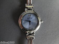 LOUIS BERTHIER MONTRE BRACELET METAL FEMME FILLE GRISE BLEU QUARTZ WOMAN WATCH