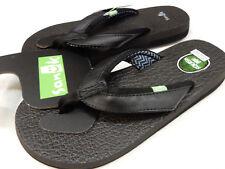 e9984b6da09561 Sanuk Womens Sandals Yoga Mat 2 Black 1091169 BLK Size 8