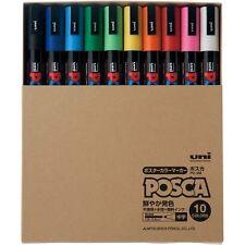 Mitsubishi Pencil aqueous marker POSCA in di 10 color set From Japan