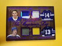 2020-21 Leaf ITG Used Maple Leafs 7/12 Captains Log Game Used Jersey Sundin Keon
