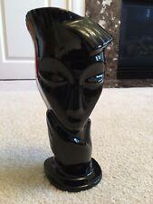 Black Ceramic Vase Modern Face