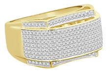 10K YELLOW GOLD 1.42 CARAT MENS REAL DIAMOND ENGAGEMENT WEDDING PINKY RING BAND