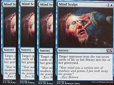 XXX 4x MIND SCULPT englisch magic 2015 M15 (blue) NM/MINT XXX XXX XXX XXX XXX