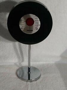 Desk Thermometer THERMODEC Black And Crome