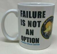 "NASA Kennedy Space Center ""Failure Is Not An Option"" Coffee Cup Tea Cocoa Mug"