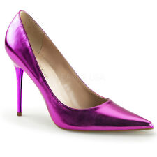 AU STOCK Pleaser Classique-20 Metallic Orchard Purple Drag Queen Heels US14