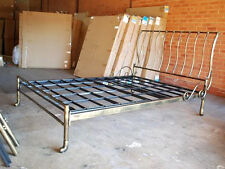 Hand Made Classic Iron Sleigh Bed Frame Castings Queen 002