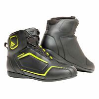Dainese Raptors D-WP Moto Motorcycle Bike Boots Black / Black / Fluo Yellow