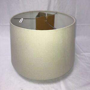 Textured Gallery Straight Sided Shade - Large - Light Gray - Pottery Barn