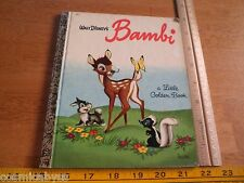 "Walt Disney's Bambi LGB Little Golden Book ""Y"" 1941 D90"