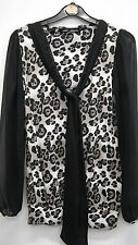Brown And Black Animal Print Top with Sheer Sleeves from Next Size 6