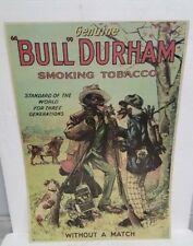 Bull Durham Black Americana Reproduction Tobacciana Smoking Tobacco Poster