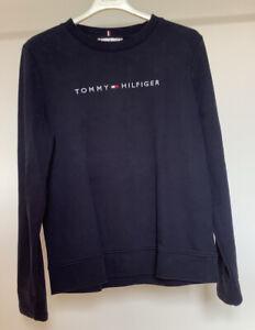 Damen Sweatshirt Pullover blauGr. S von TOMMY HILFIGER
