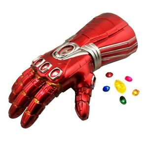 Iron Man Avengers Infinity War Gauntlet Adult Glove w/Removable LED Light Stone
