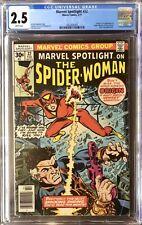 MARVEL SPOTLIGHT #32 ORIGIN & 1ST APP SPIDER-WOMAN CGC 2.5 WHITE PAGES Bronze