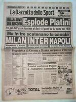 GAZZETTA DELLO SPORT 21-10-1985 JUVENTUS-BARI 4-0 RECORD TRIPLETTA PLATINI