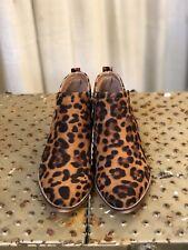 Women's Leopard Faux Suede Booties - Size 8 - NIB