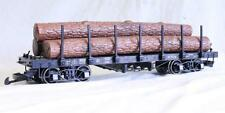 LILIPUT G GAUGE L95750 STAKE FLAT WAGON WITH LOG LOAD (OS)